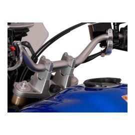 Elevadores 30 mm SW Motech en plata para Yamaha XT 1200 Z Super Teneré 10-13