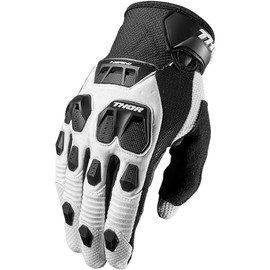 Guantes de cross Defend THOR Blanco/negro