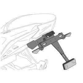 Portamatrículas Puig para Honda X-ADV 17-20