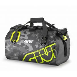Bolsa  Givi EA115CM impermeable de 40 litros camuflaje gris y amarillo