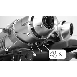 Kit adaptador Givi 351KIT para el montaje sin el Monorack YAMAHA FZ6 04-09