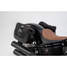 Pack alforjas SW Motech  Legend Gear LC  Edition Black para Harley Davidson Softail Street Bob 17-21