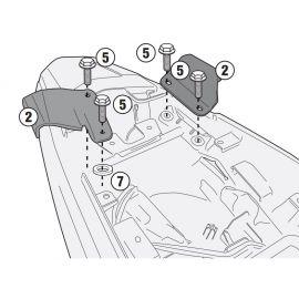 Adaptador Givi para el montaje del soporte lateral Givi PLX1121, sin el monorack o soporte de baúl trasero