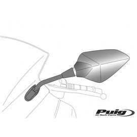 Espejo retrovisor derecho universal fijación a cúpula 70º Tipo RS1 Puig 7346 (Mirar marcas y modelos compatibles)