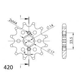 Kit de arrastre DID Super Reforzado para Derbi Senda R DRD 50 04-08/SM DRD 50 05-13