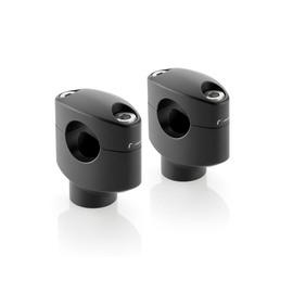 Alzas de manillar Rizoma en negro para manillares de 25.4 mm