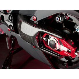 Proteccion basculante en carbono brillo Lightech para Yamaha T-MAX 530 12-14