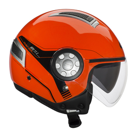 Casco moto Jet Givi 11.1 Air Jet color rojo fluor.