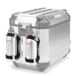 Soporte en acero inoxidable para botella térmica Givi E162 para maletas OBK58 / OBK42 / OBK48 / OBK37 TREKKER OUTBACK, DLM30 / DLM36 / DLM46 TREKKER DOLOMITI y TRK33 / TRK46 TREKKER