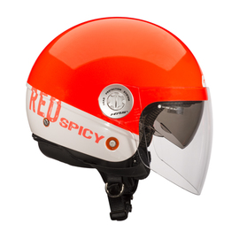 Casco demi-jet Givi 10.8 URBAN-J rojo city