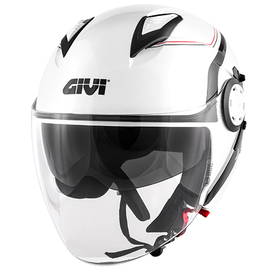 Casco Jet Givi 12.3 Stratos Thanatos blanco brillo