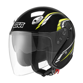 Casco Jet Givi 20.6 FIBER-J2 PLUS Negro brillo