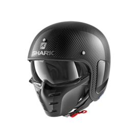Casco convertible SHARK S-Drak Carbon Negro