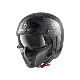 Casco convertible SHARK S-Drak Carbon Freestyle Negro/Gris