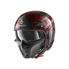 Casco convertible SHARK S-Drak Carbon Freestyle Rojo/Verde