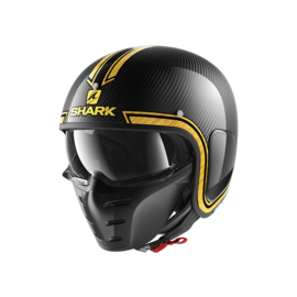 Casco convertible SHARK S-Drak Carbon Vinta Negro/Amarillo