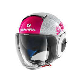 Casco jet SHARK Nano Tribute Blanco/Violeta