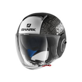 Casco jet SHARK Nano Tribute Negro/Blanco
