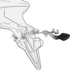 Kit Givi para desplazar los intermitentes de la posición original para moto Honda CB 500X 13>