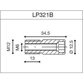 Adaptador de espejos para puños Rizoma LP321B para BMW S 1000R 14> (unid.)