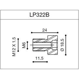Adaptador para contrapesos Rizoma LP322B  para BMW F800R 09-14 (unid.)