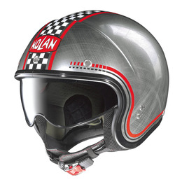 Casco Jet Nolan N21 LARIO 4 scratched chrome