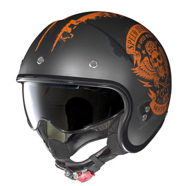 Casco Jet Nolan N21 SPEED JUNKIES 50 negro / naranja