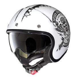 Casco Jet Nolan N21 SPEED JUNKIES 51 blanco