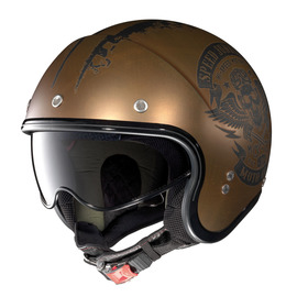 Casco Jet Nolan N21 SPEED JUNKIES 52 scratched flat copper