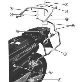 Soporte de maletas laterales Givi Monokey PL167 para moto Honda XL 650V Transalp 00-07