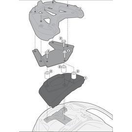 Soporte de baúl trasero Givi para maletas Monolock para moto Suzuki Burgman 650 02-19