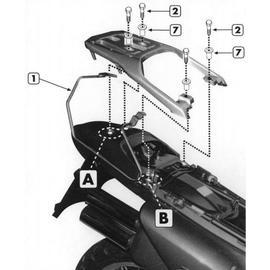 Soporte de alforjas laterales Givi T213 para moto Honda XL 650 V Transalp 00-07