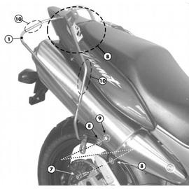 Soporte de alforjas laterales Givi T214 para moto Honda Hornet 600 / S 98-06