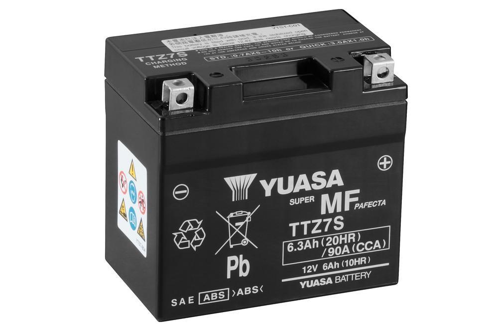 Batería moto Yuasa TTZ7S sin mantenimiento