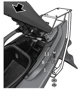 Soporte Baúl Trasero Shad Y0TM59ST para Yamaha T-Max 500 08-12