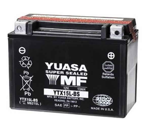 Batería moto Yuasa YTX15L-BS sin mantenimiento
