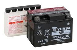 Batería moto Yuasa YTX4L-BS sin mantenimiento