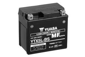 Batería moto Yuasa YTX5L-BS sin mantenimiento