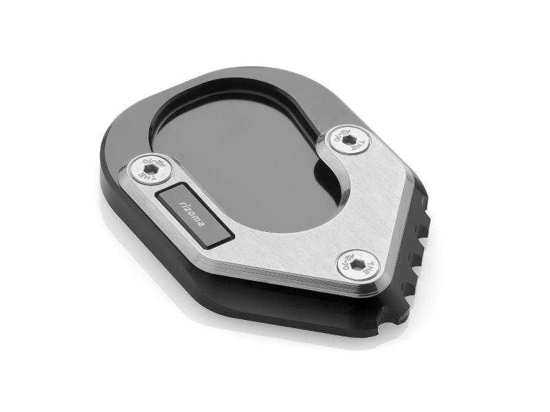 Base Rizoma ZBW063B para agrandar la superficie del caballete lateral o pata de cabra para BMW R1200GS LC 15>