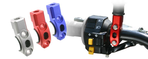 Abrazadera universal Zeta para soporte de espejo retrovisor 10mm de rosca , con casquillo de nylon